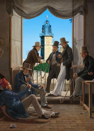 Constantin Hansen — Un groupe d'artistes danois à... Venterol